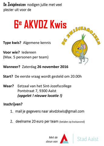 AKV De Zwisjelmoizen Kwis 2016